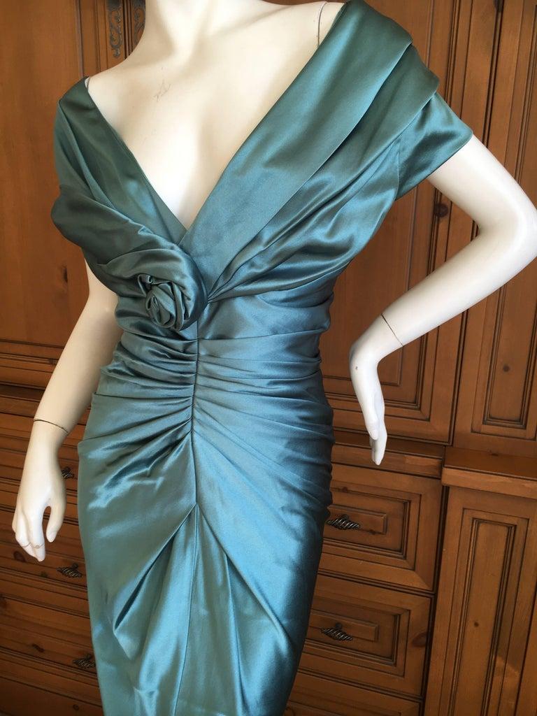 Christian Dior by John Galliano Exquisite Low Cut Silk Evening Dress  4
