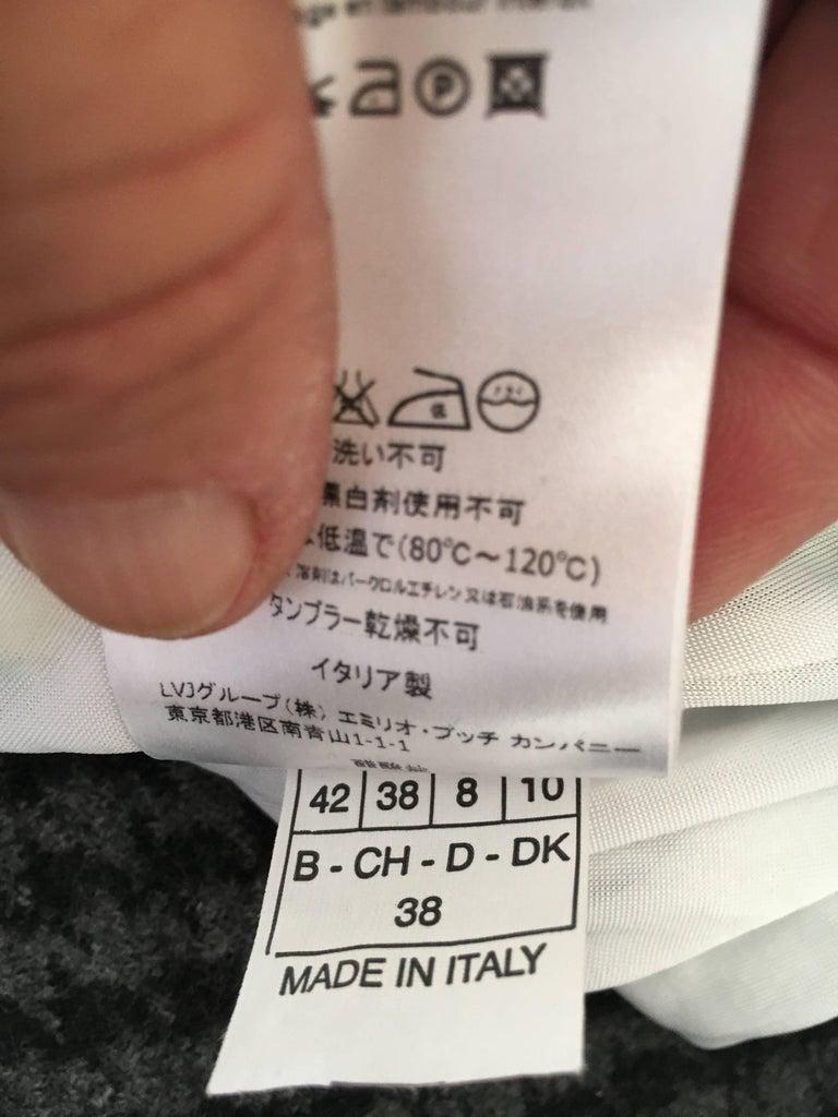Emilio Pucci One Shoulder Mini Dress For Sale 2
