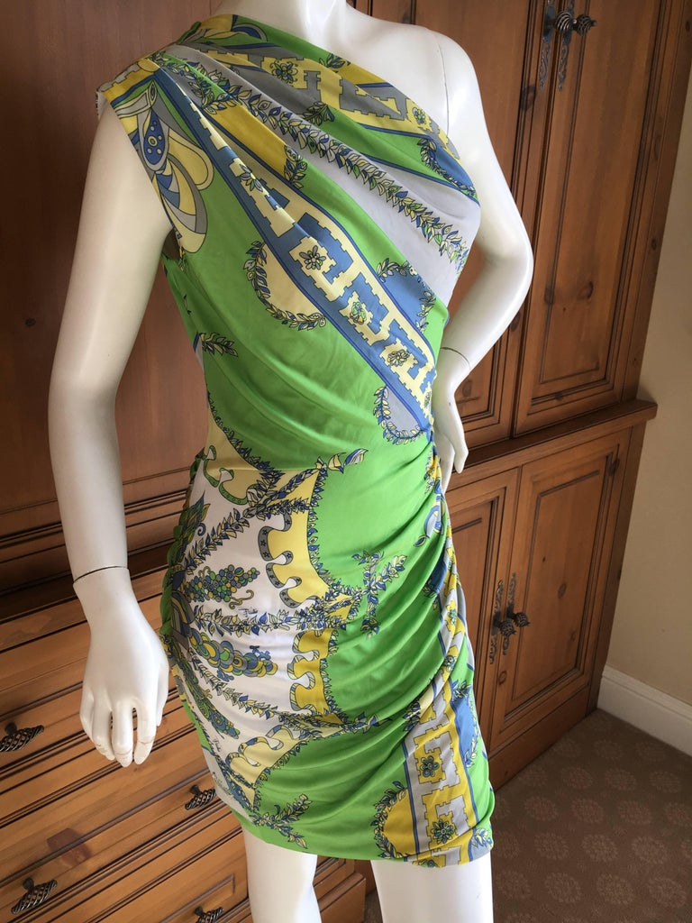 Emilio Pucci One Shoulder Mini Dress In Excellent Condition For Sale In San Francisco, CA