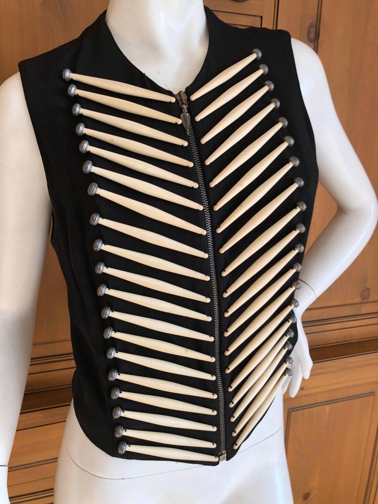 Black Rifat Ozbek Vintage  Embellished Vest For Sale