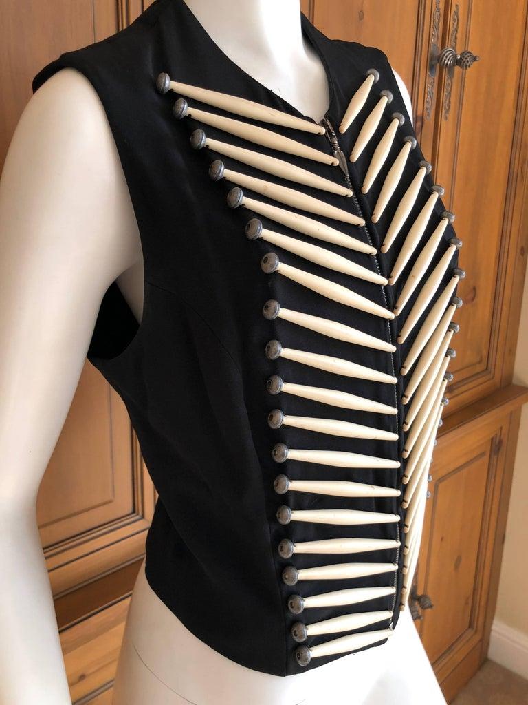 Rifat Ozbek Vintage  Embellished Vest In Excellent Condition For Sale In San Francisco, CA