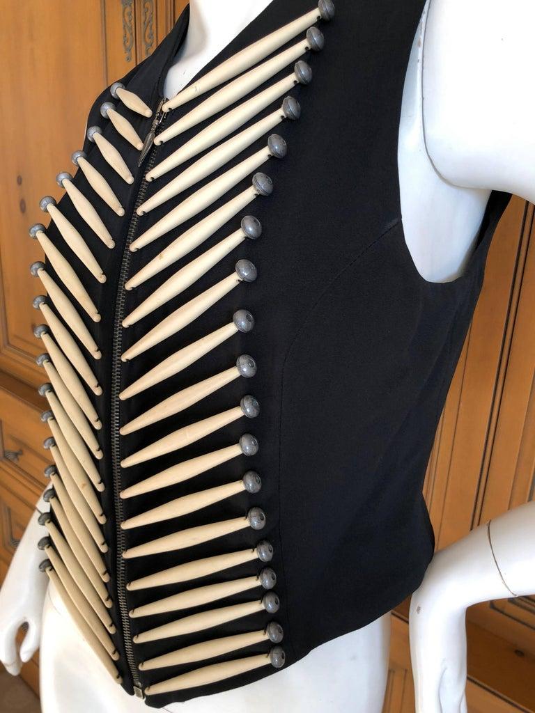Women's or Men's Rifat Ozbek Vintage  Embellished Vest For Sale