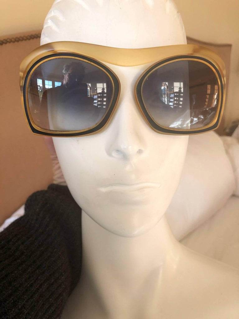 Christian Dior Futuristic 70's Vintage Oversize Sunglasses