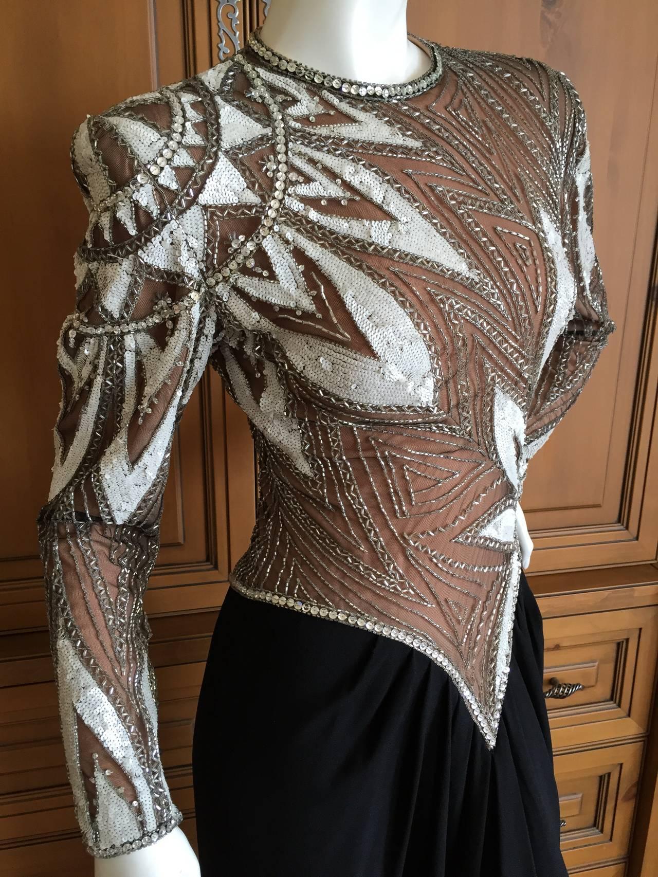 Bob Mackie 1980 S Beaded Evening Dress