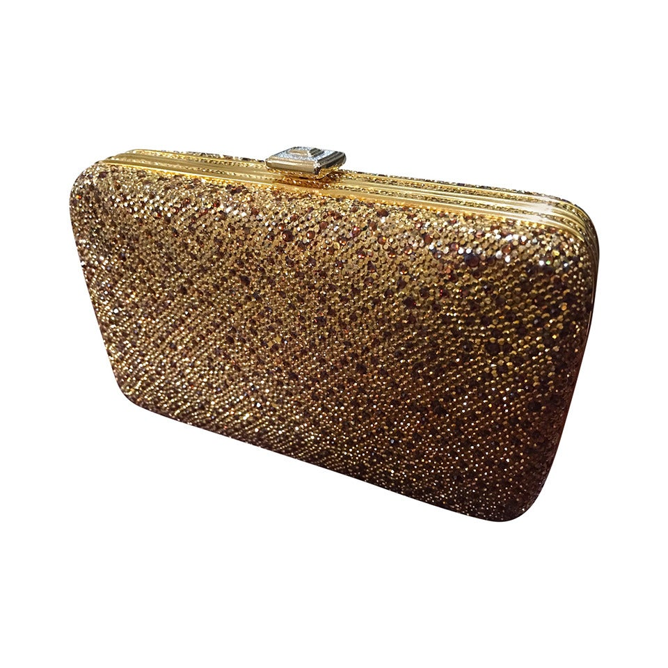 Judith Leiber Late 1960s Judith Leiber Rare Gold Tone Cocktail Bag