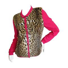 J. Mendel Lippi Cat Fur & Cashmere Jacket