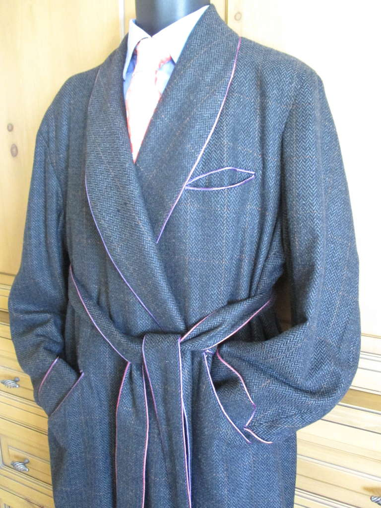 Turnbull and Asser Men\'s Cashmere Dressing Gown Robe XL at 1stdibs