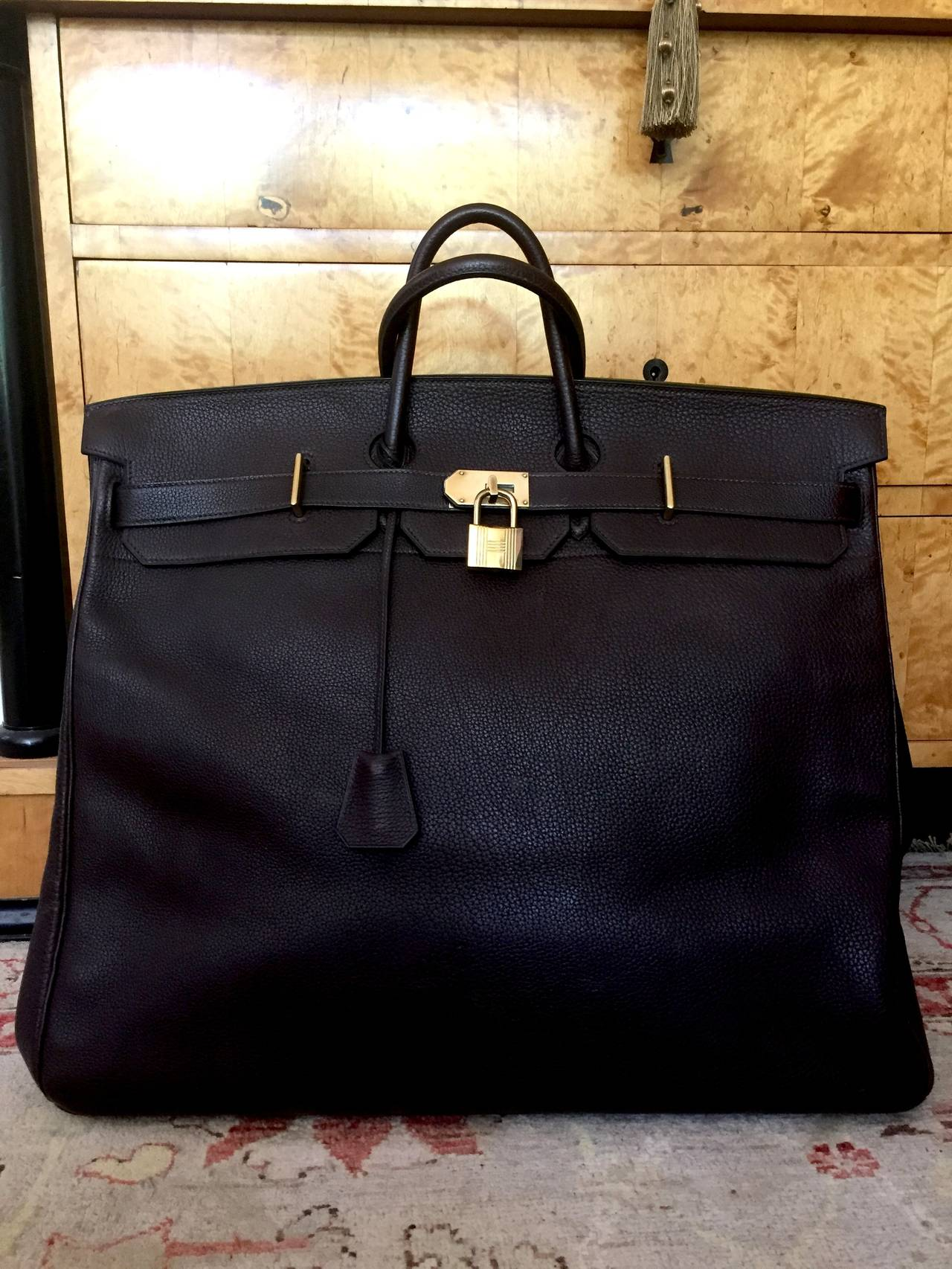 4ac896c6423a ... where to buy hermes birkin 50 hac haut à courroie togo leather travel  bag. the