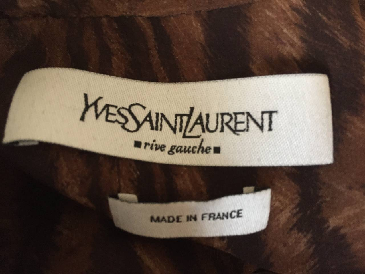 Yves Saint Laurent by Tom Ford Mombassa Collection Sheer Silk Leopard Top 8