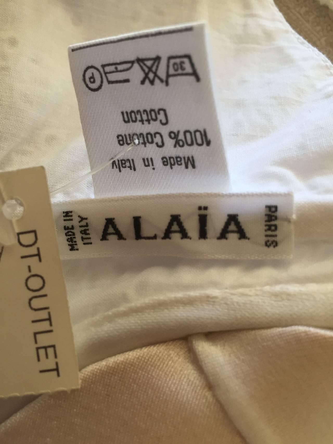 Alaia Vintage 80's Broderie Anglaise Eyelet Bras (2) 7