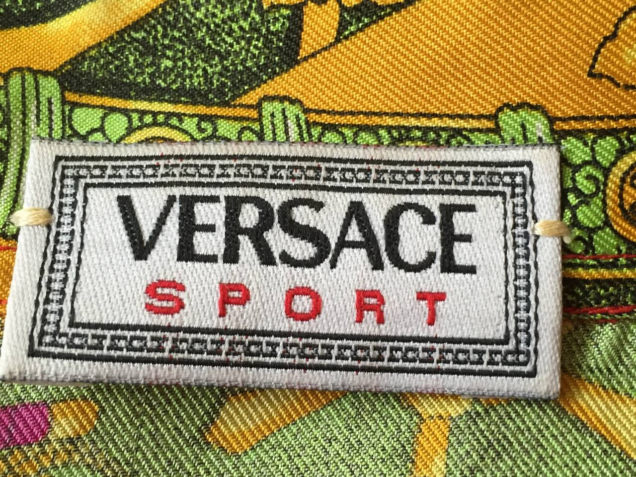 "Vintage Versace Silk ""Samurai"" Blouse 7"