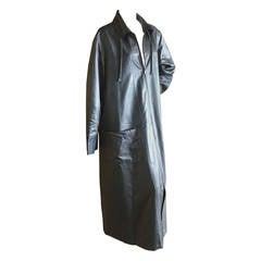 Chanel Silvery Metallic Duster Coat