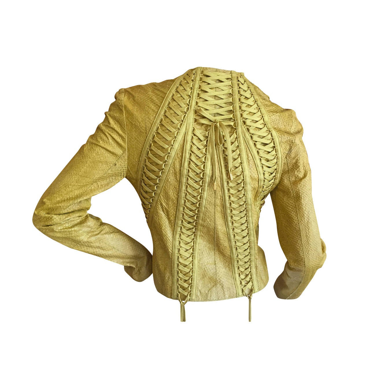 c1f1f79d8 Christian Dior by John Galliano Exotic Skin Corset Lace Jacket