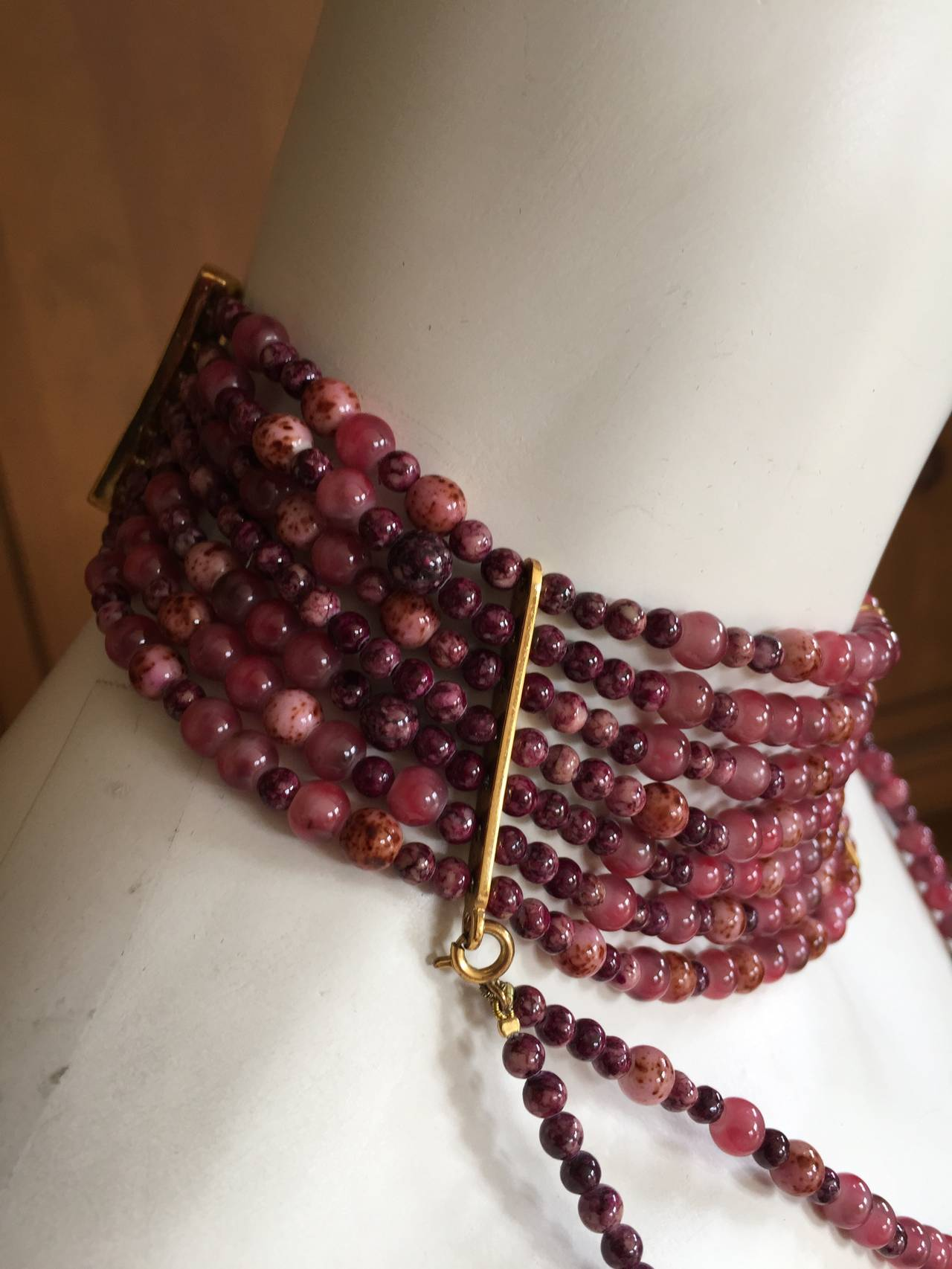 "Christian Dior by John Galliano ""Masai"" Bead Necklace For Sale 3"