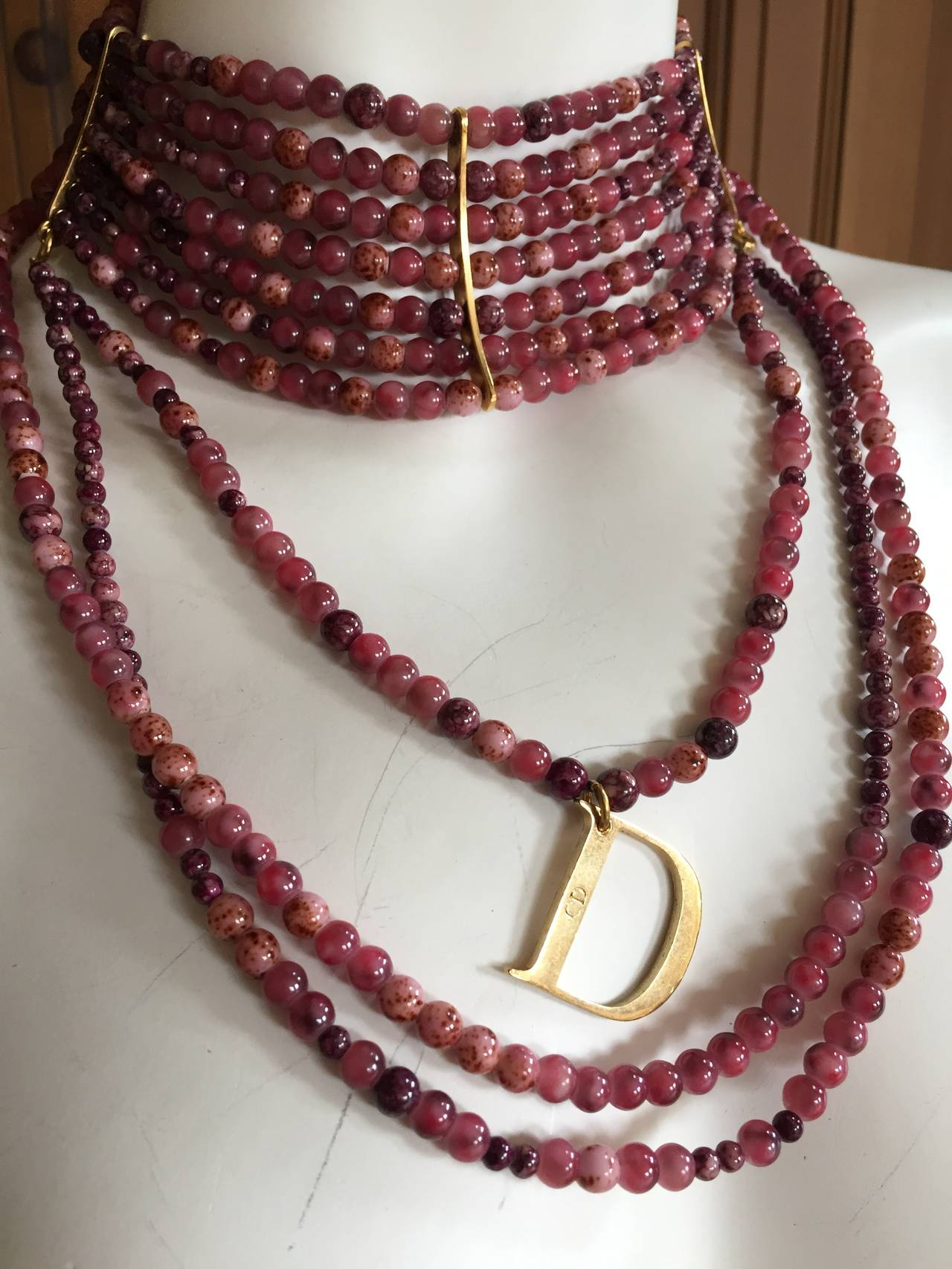 "Christian Dior by John Galliano ""Masai"" Bead Necklace 8"