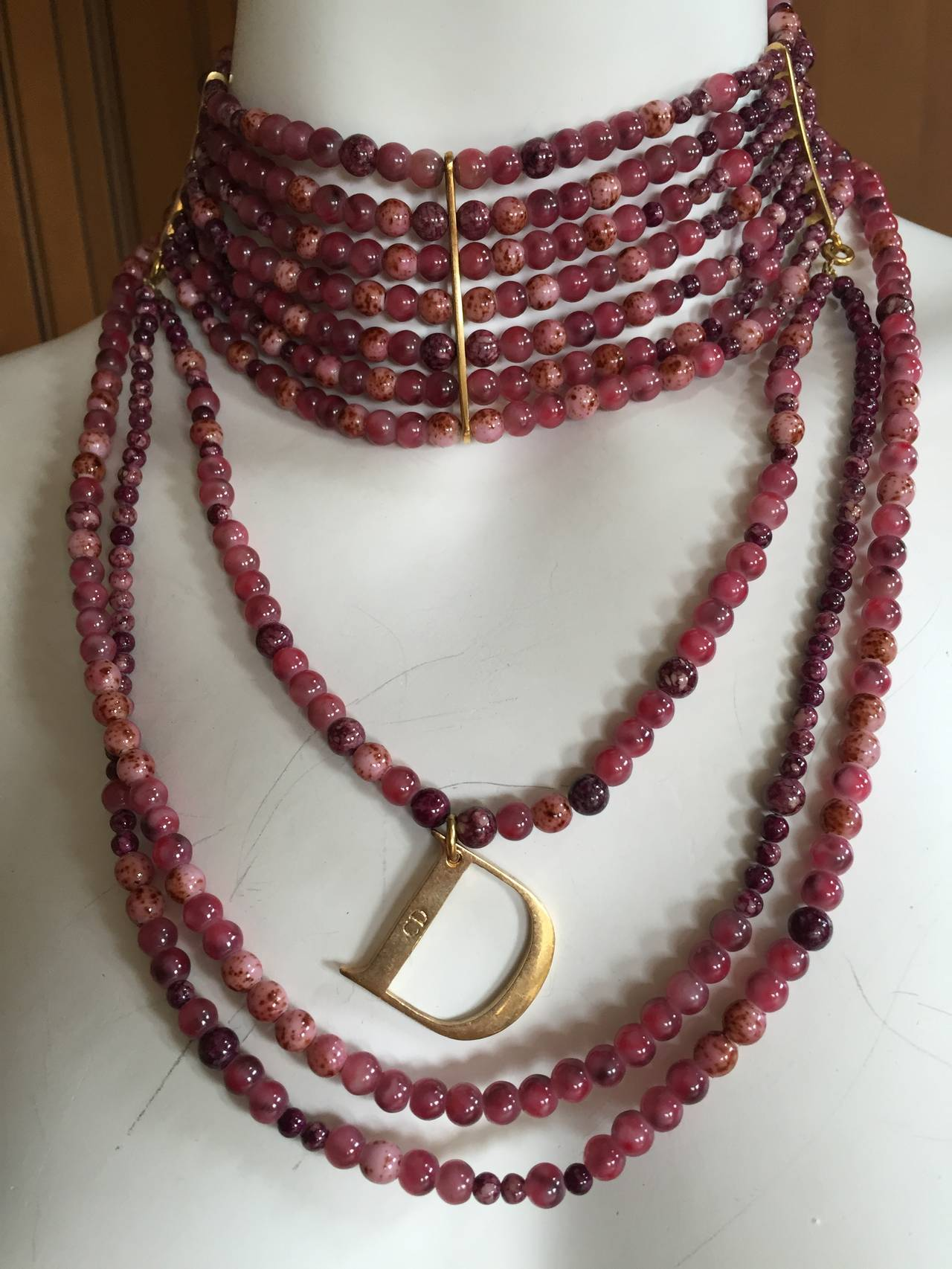 "Christian Dior by John Galliano ""Masai"" Bead Necklace 9"