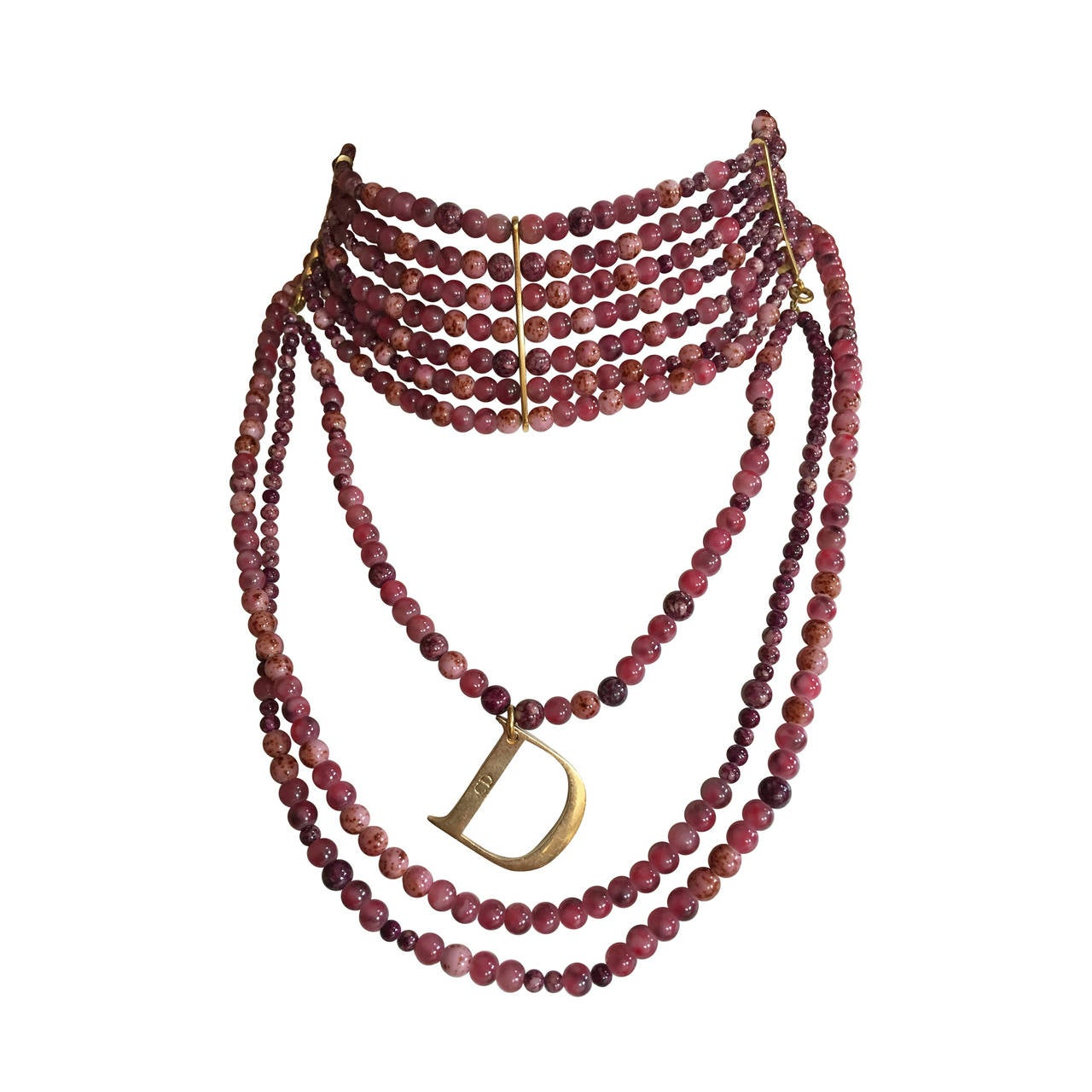 "Christian Dior by John Galliano ""Masai"" Bead Necklace For Sale"