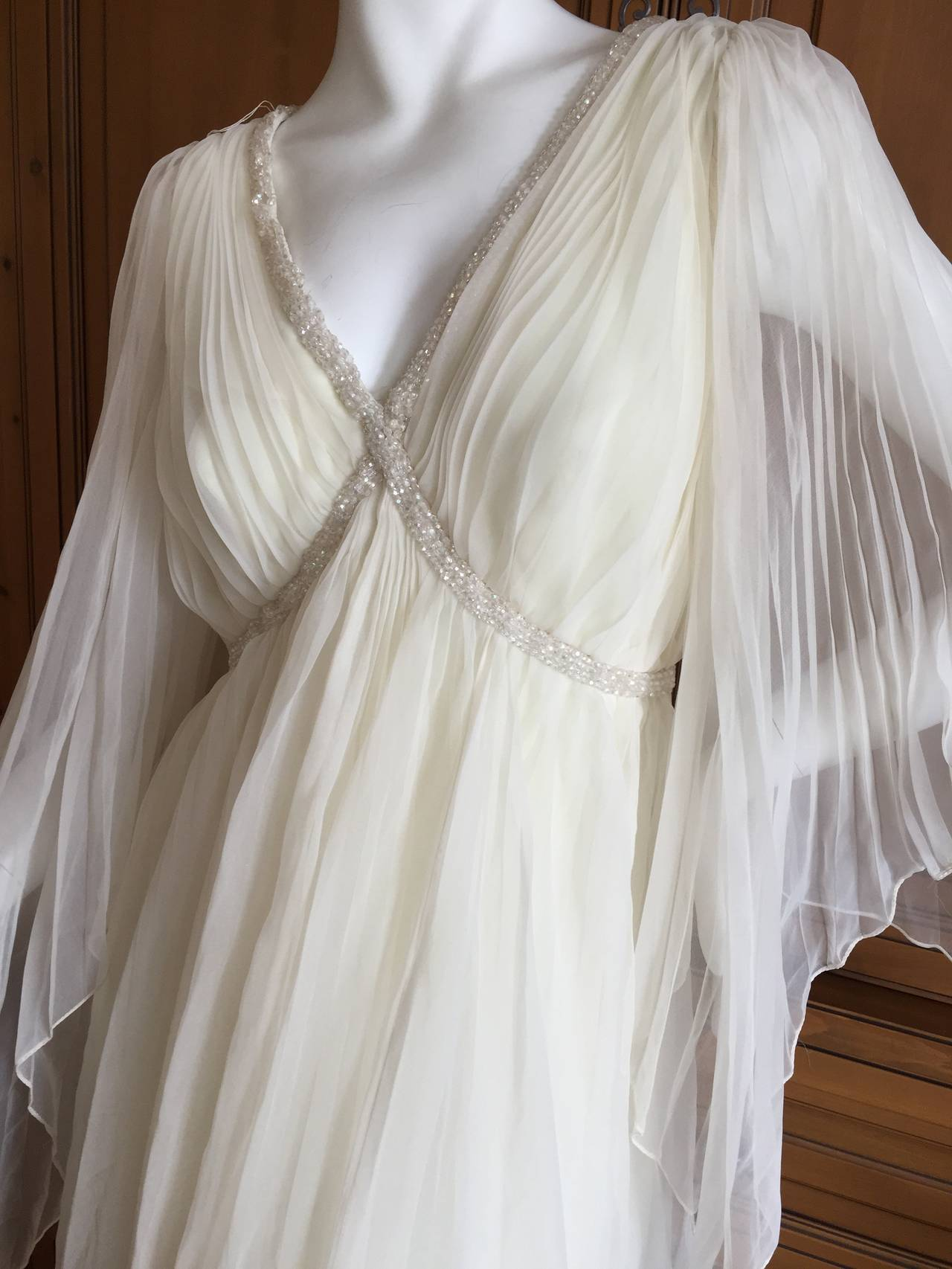 Jean Louis Romantic Ivory Beaded Dress 3