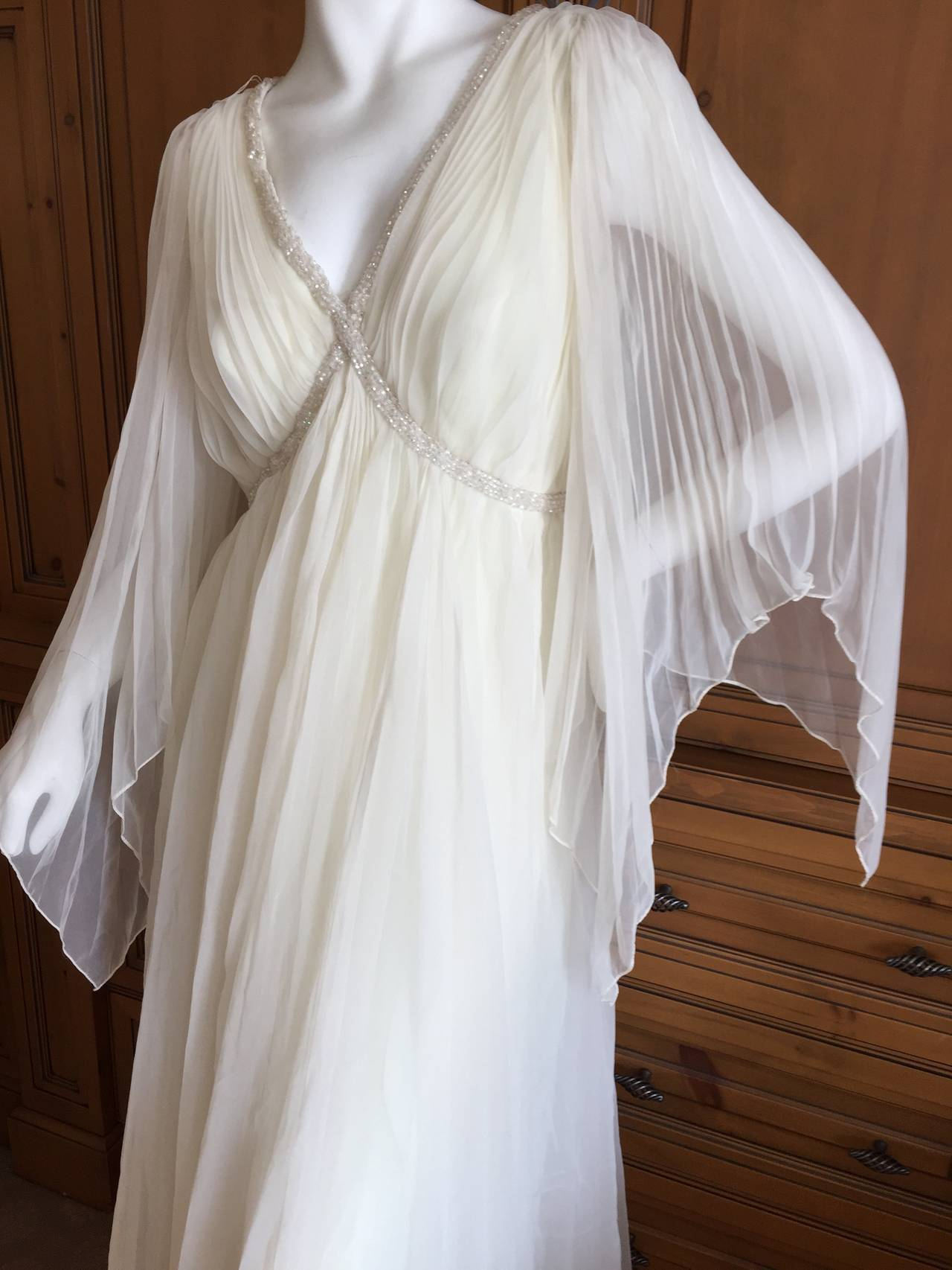 Jean Louis Romantic Ivory Beaded Dress 4