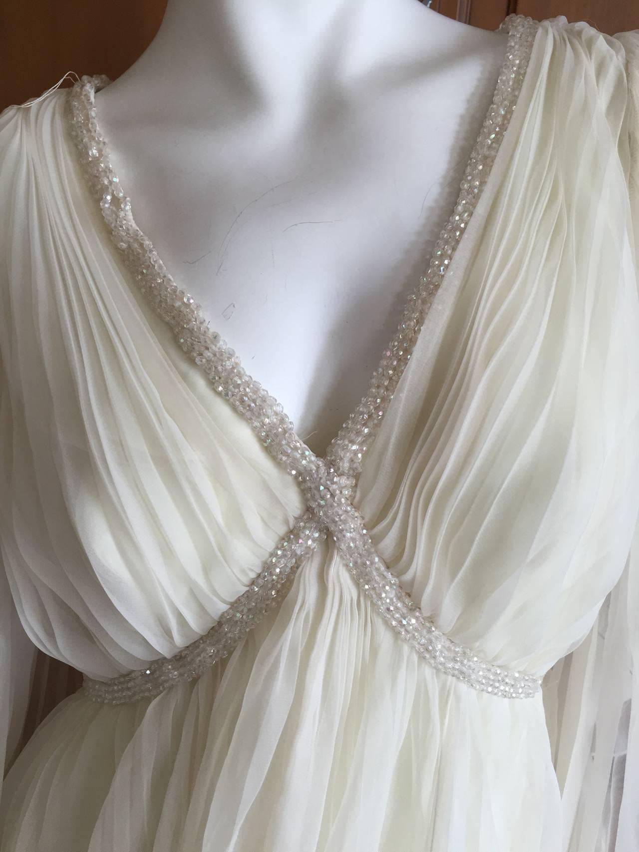 Jean Louis Romantic Ivory Beaded Dress 5