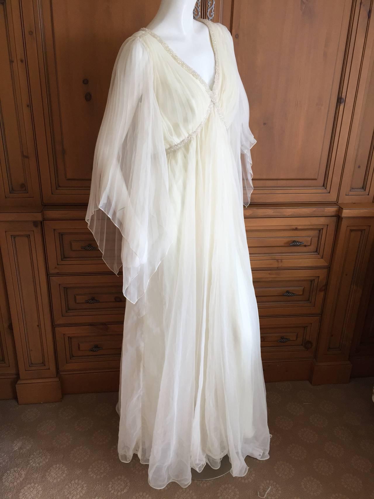 Jean Louis Romantic Ivory Beaded Dress 6