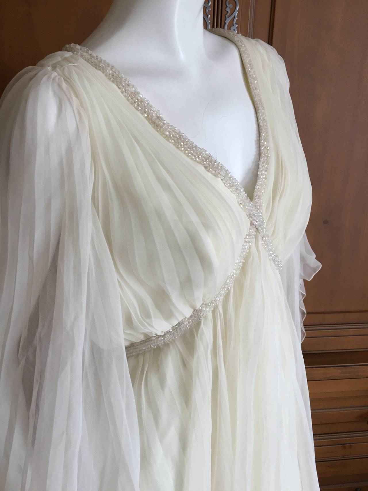 Jean Louis Romantic Ivory Beaded Dress 7