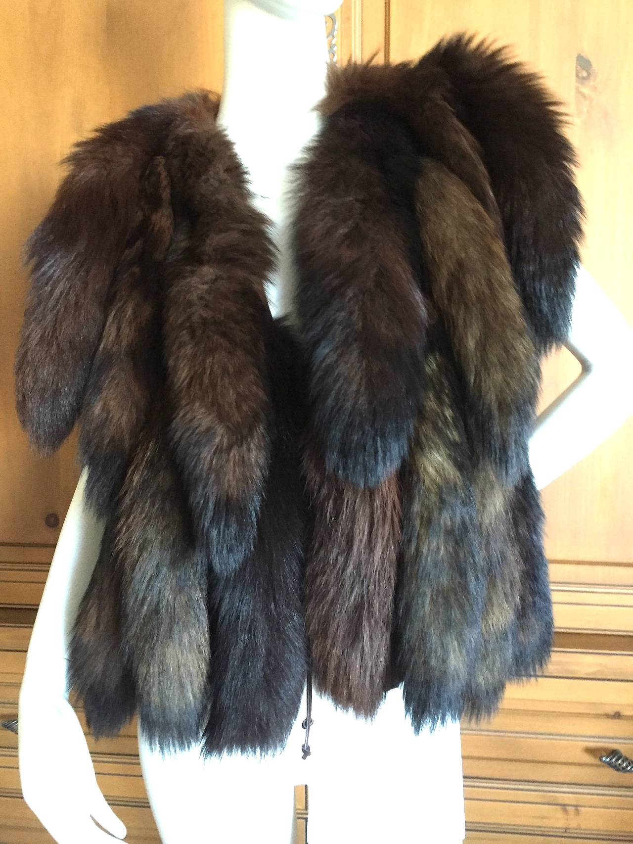 Wonderful vintage fox tail vest from Giorgio Beverly Hills.