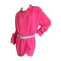 Galanos Hot Pink Silk Jacket