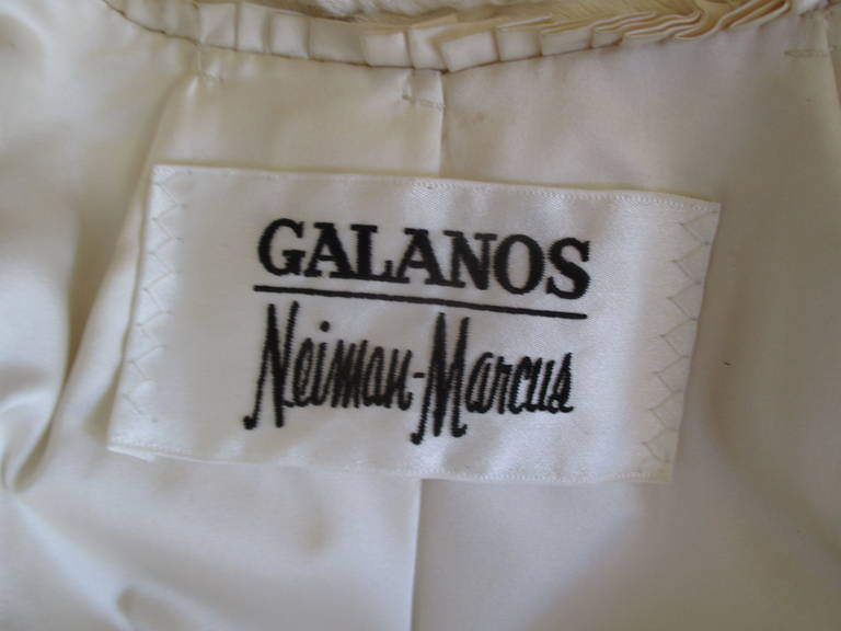 Galanos / Neiman Marcus Luxurious Full Length Ermine Fur Coat 5