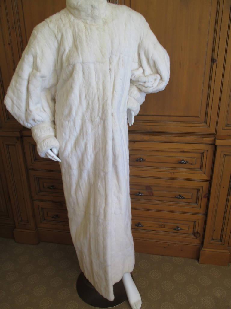 Galanos / Neiman Marcus Luxurious Full Length Ermine Fur Coat 2