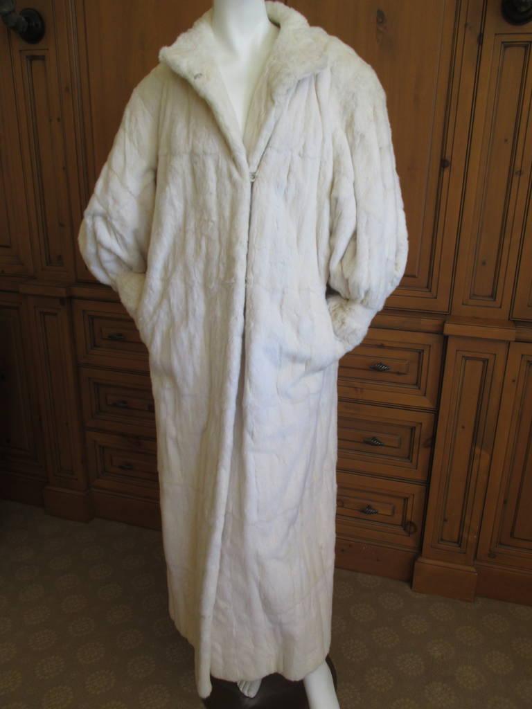 Galanos / Neiman Marcus Luxurious Full Length Ermine Fur Coat 4