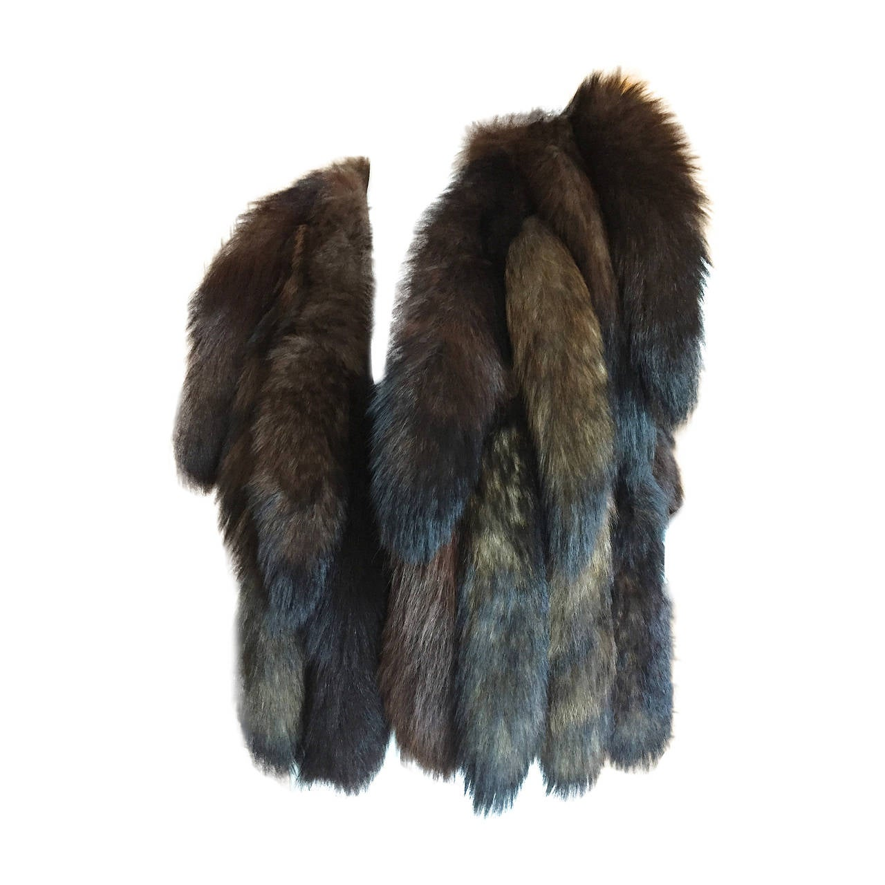 Giorgio Bevery HIlls Boho Fox Tail Boho Vest For Sale