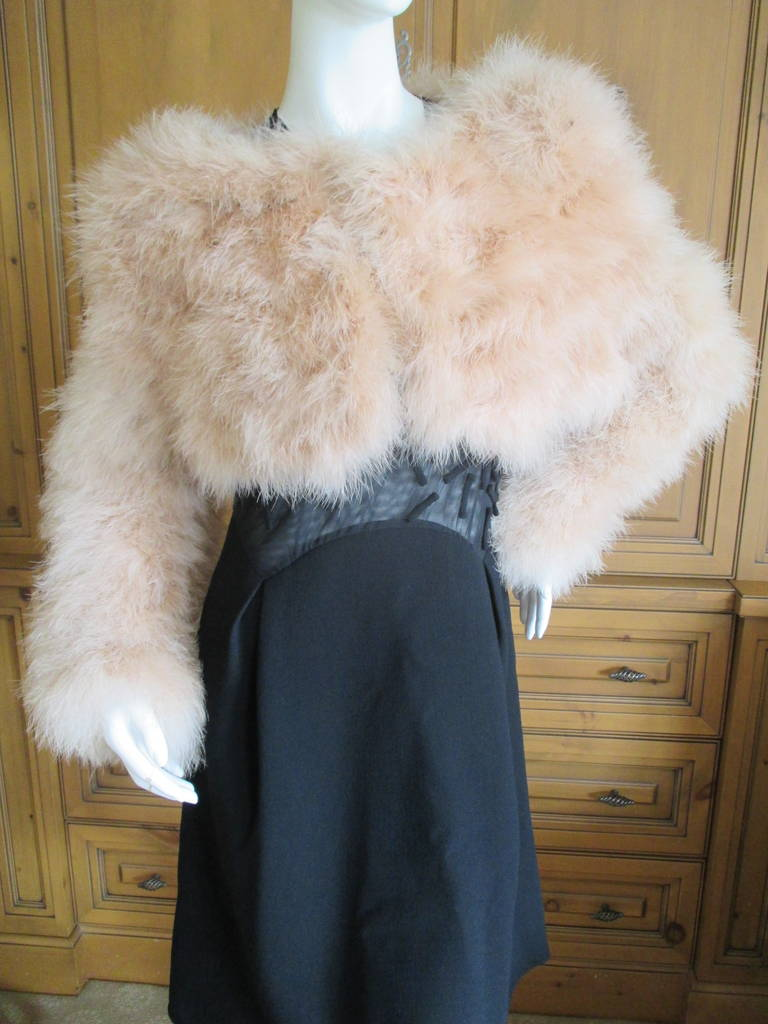 Gucci  Tom Ford 2004 Blush Pink Feather Jacket  New 2