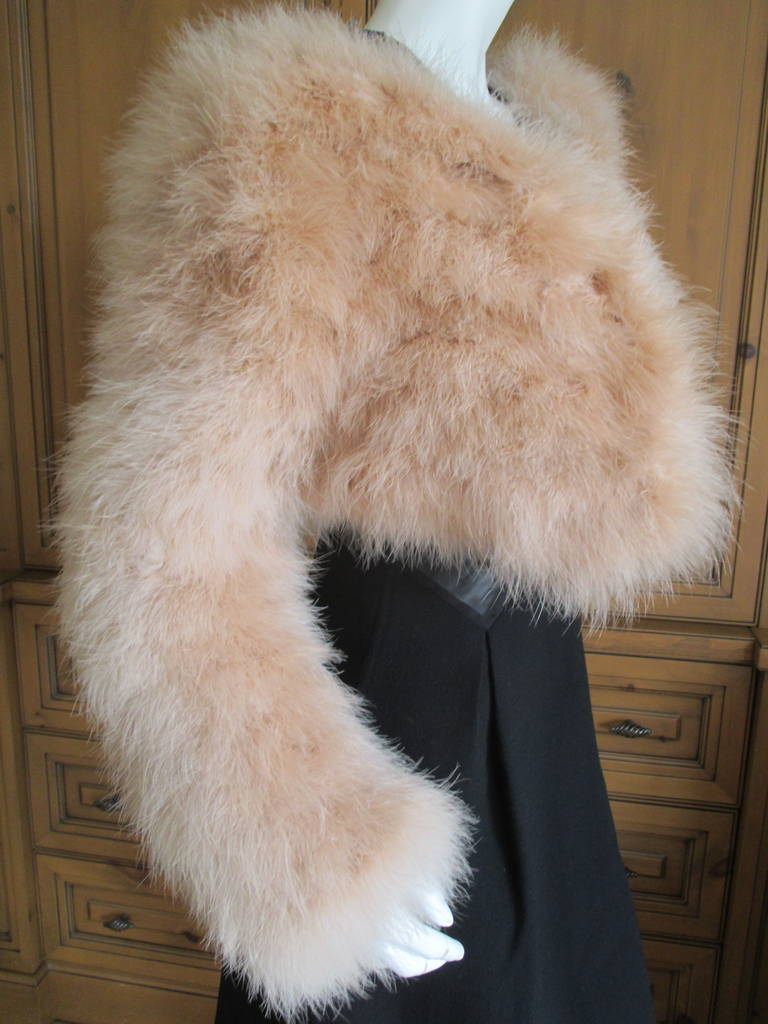 Gucci  Tom Ford 2004 Blush Pink Feather Jacket  New 3