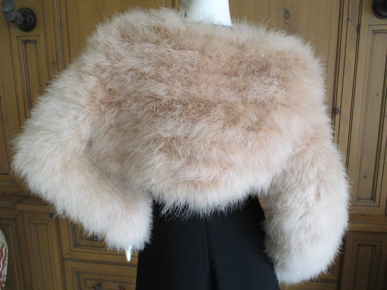 Gucci  Tom Ford 2004 Blush Pink Feather Jacket  New 4