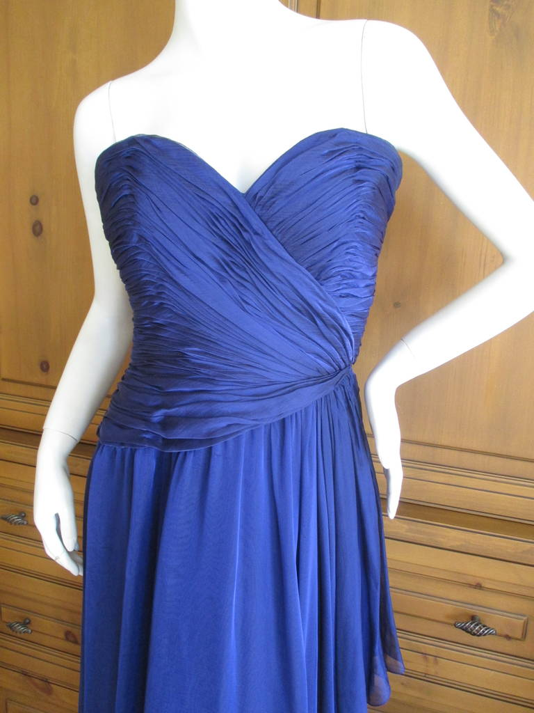 Oscar de la Renta Vintage Strapless Gown with Wrap 4