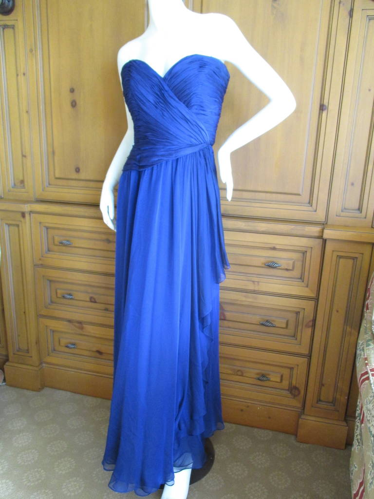 Oscar de la Renta Vintage Strapless Gown with Wrap 6