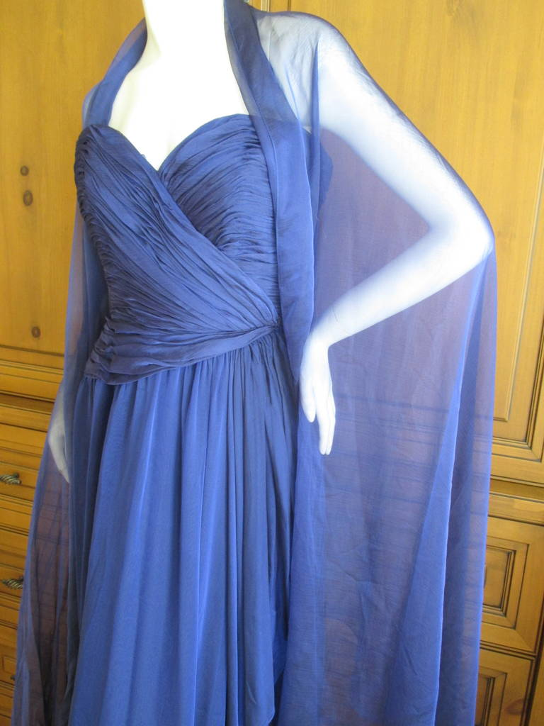 Oscar de la Renta Vintage Strapless Gown with Wrap 3