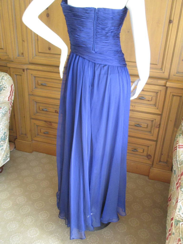 Oscar de la Renta Vintage Strapless Gown with Wrap 5