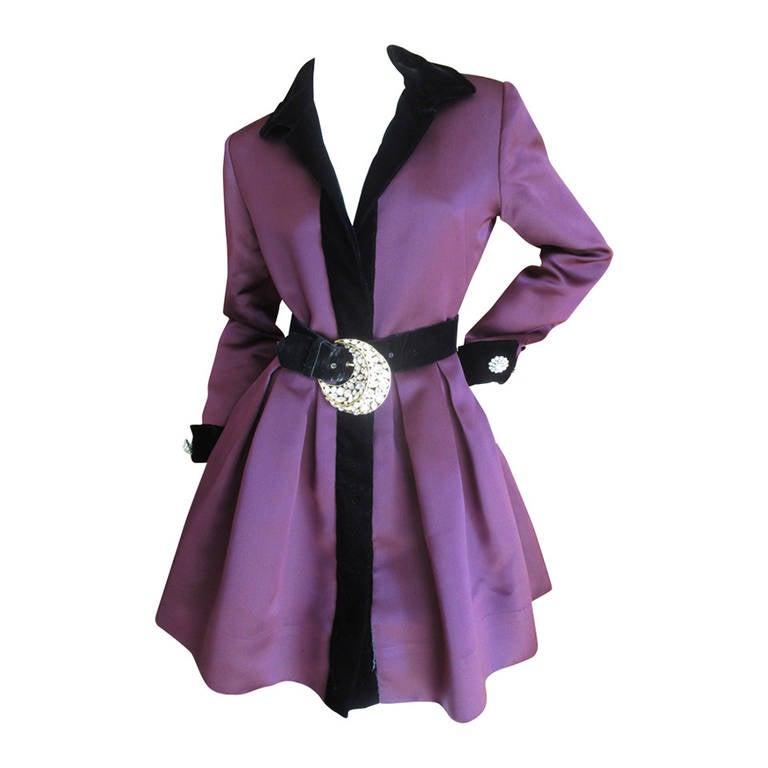 Oscar de la Renta Vintage Dress with Jeweled Belt 1