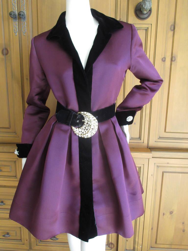 Oscar de la Renta Vintage Dress with Jeweled Belt 3
