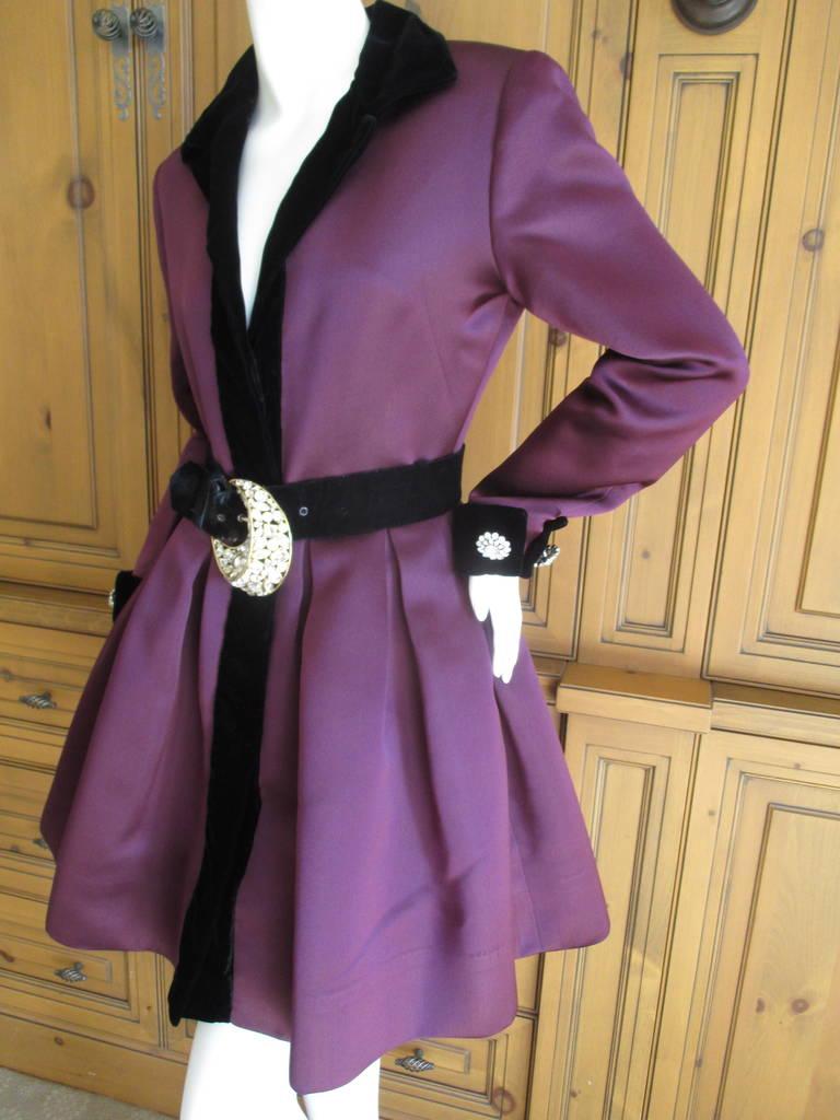 Oscar de la Renta Vintage Dress with Jeweled Belt 2