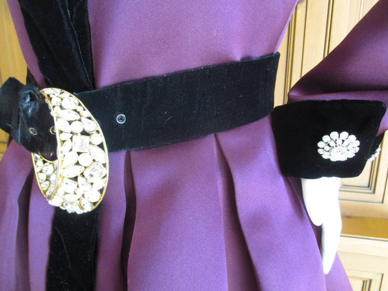 Oscar de la Renta Vintage Dress with Jeweled Belt 4