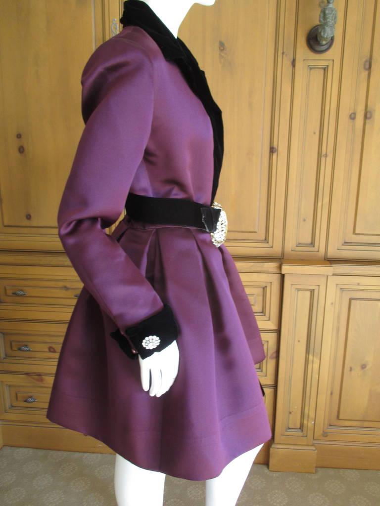 Oscar de la Renta Vintage Dress with Jeweled Belt 8