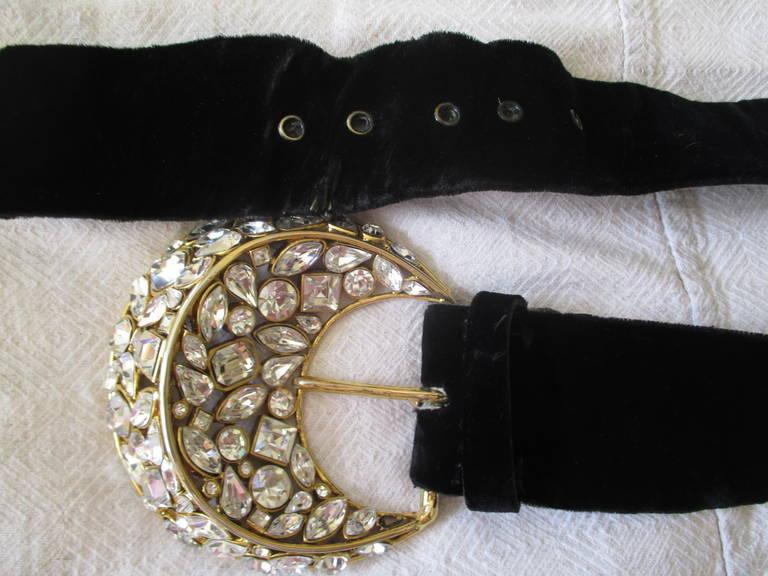 Oscar de la Renta Vintage Dress with Jeweled Belt 7
