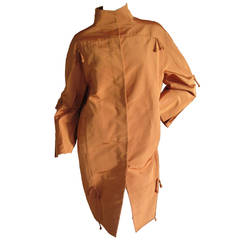 Ralph Rucci Iridescent Orange Silk Coat
