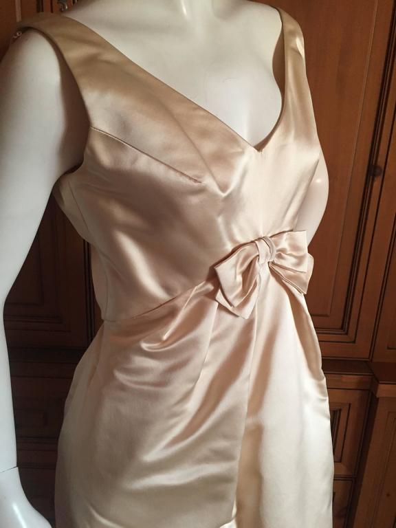 Bill Blass For Maurice Retner Silk Dress With Vest For