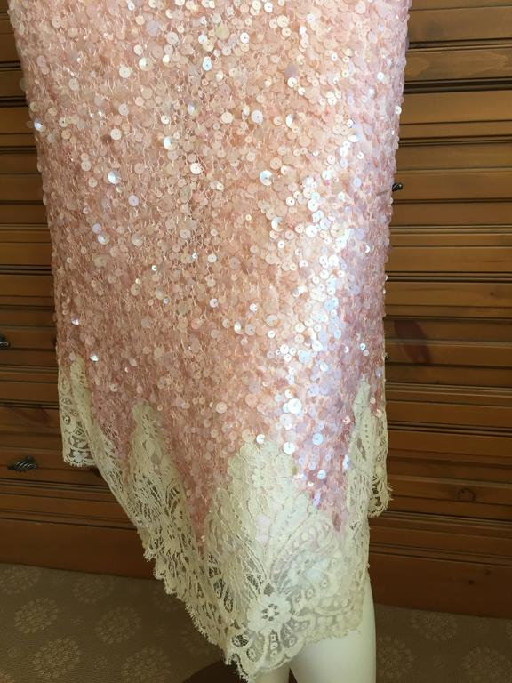Valentino Lace Trim Sequin Slip Dress  New / Tags In New Never_worn Condition For Sale In San Francisco, CA