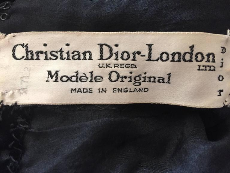 Christian Dior 1950's Numbered Haute Couture Jet Beaded Top 10
