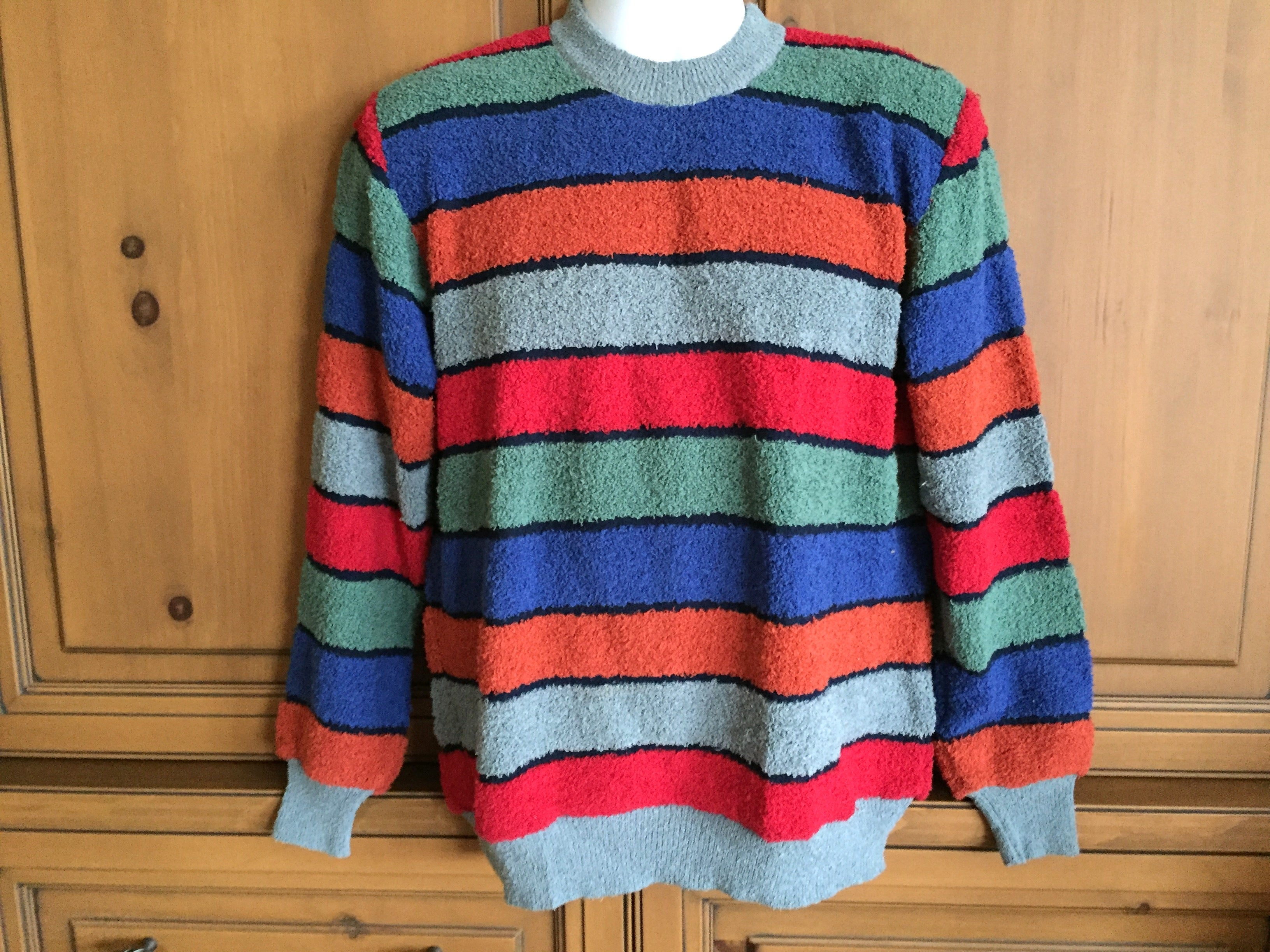 87c7a98948e6 Missoni Uomo 80 s Mens Horizontal Stripe Sweater New with Tags. For Sale at  1stdibs